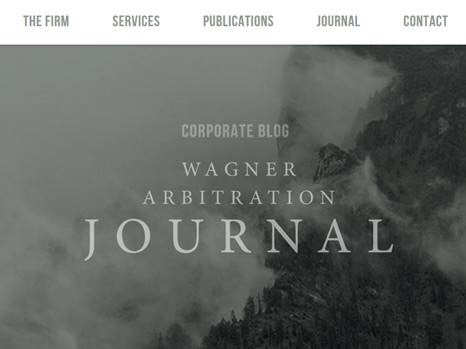 Introducing the WagArb Journal